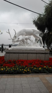 At the entrance of Stalin Park
