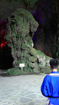 Greeting Lion at the entrance of the Cave