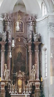 Interior of St. Emmeram's Abbey.