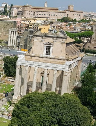 Temple of Antoninus Pius and his wife Faustina, built in AD 141