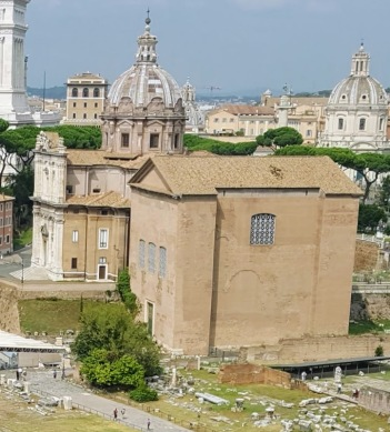 The Curia, the meeting place of the Roman Senators. The best preserved building on the site.