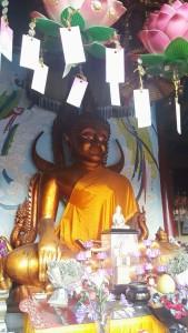 The bronze statue of Buddha Sukyamuni